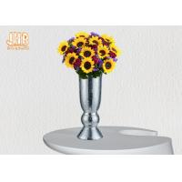 Wholesale Indoor Small Fiberglass Planters Table Vases Silver Mosaic Glass Finish from china suppliers