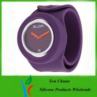 Wholesale OEM / ODM Slap Watches, Silicone Wristband Watch With Colorful Dial from china suppliers
