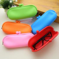 China Hot selling jelly make up bag glass bag silicone coin holder purse wholesale