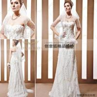 Wholesale handmade appliqued wedding dresses,  broomstick style handmade wedding dresses 90023 from china suppliers