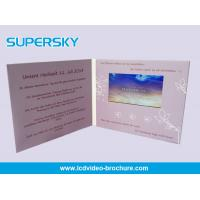 Quality 90mm × 50mm 256MB LCD Video Brochure Card Magnet Switch With HD Screen for sale