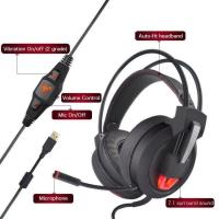 Wholesale Virtual reality 7 dot 1 Surround Sound Game Headphones Computer Gaming Headset from china suppliers