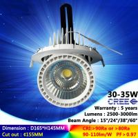 Buy cheap 2700K-6500K 30W 35W recessed spotlight COB ceiling light high CRI with factory from wholesalers