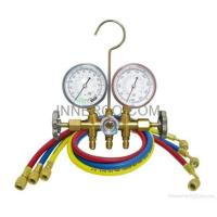 Quality Brass Manifold Gauge R12. R22. R134a. R404a, R407c R410a for sale