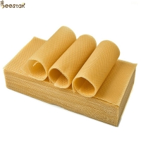 Wholesale C 100 natural beeswax Honeycomb Frame Beeswax Foundation Sheet from china suppliers