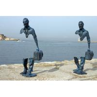 Wholesale Famous Casting Traveler Design Bronze Statue , Bronze Figurines Custom Size from china suppliers