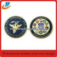 China 2017 new design challenge coins/65mm military coins cheap custom on sale