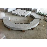 Wholesale Bush hammered G603,Sesame White,Light Grey,Crystal White Granite Kerbstone,Curbstone from china suppliers