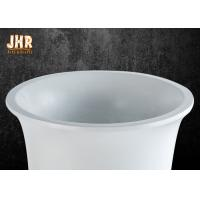 Quality Small Glossy White Fiberglass Planters Floor Vases Decorative Flower Pots for sale