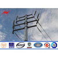 Buy cheap Galvanized Steel Pole For 110v Electrical Distribution Line Project from wholesalers