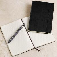 Wholesale custom leather agenda book with elastic band for gift from china suppliers