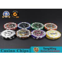 Wholesale ABS Casino Poker Chips , Gambling Plastic Sticker Poker Chips Coins Yangming from china suppliers