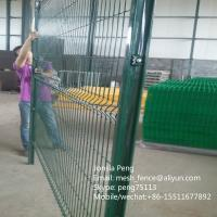 Wholesale 75*150mm*4mm green powder coated welded wire mesh fencing from china suppliers