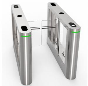 Wholesale Stainless steel Swing turnstile gate entrance facial recognization QR code infrared RFID reader from china suppliers