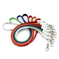 Wholesale Multicolor Lanyard Usb Cable , Phone Data Transfer Cable Nylon Braided Material from china suppliers