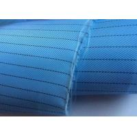 Wholesale Plain Dyed Esd Fabric Thousands Colors Poly Grid Or Strip Shrink Resistant from china suppliers