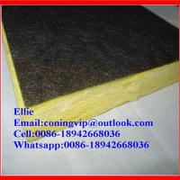 Wholesale Fiberglass wool board with black tissue onone side from china suppliers