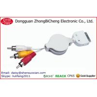Wholesale For Stereo Devices Retractable 30-Pin To 3rca Audio Cable from china suppliers