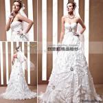 Wholesale sweetheart neck bride wedding dresses,  wrap crystal bride wedding dresses 90021 from china suppliers