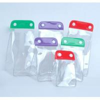 Wholesale Promotion Clear PVC Packaging bags with buttons , personalized cosmetic bags from china suppliers