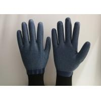 Wholesale Anti Slip Granule Black Latex Gloves , Latex Dipped Work Gloves Comfortable Hand Feeling from china suppliers