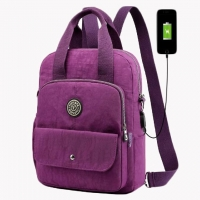 Wholesale Nylon USB Charging Stylish Travel Backpacks For Girl from china suppliers