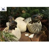 Wholesale Playground Park Dinosaur Garden Statue Hatching Animatronic Dinosaur Egg Decoration from china suppliers