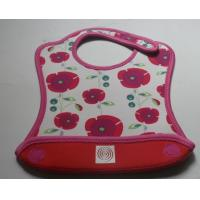 Wholesale Eco-friendly Fashion Patterned soft Washable Neoprene Baby Bib with velcro closure from china suppliers