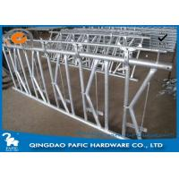 Buy cheap 7 place Locking Feed Barriers , Dairy Cow Headlock Feed Lines Fence from wholesalers
