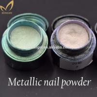 Chrome Powder Nail, Nail Polish Metallic Mirror Effect
