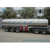 Quality 45m3 304 2B Edible Grade Chemical Tank Trailer 3 Axle For Milk / Liquid Food for sale