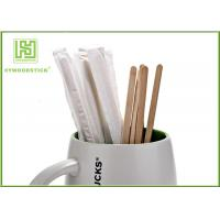China Sterile Healthy Coffee Mixer Stick , Individually Paper Sleeve Wooden Drink Stirrers wholesale