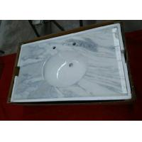 Dream White Onyx Marble Bathroom Countertops / Kitchen Marble Worktops Flat Edge