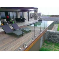 External Balustrade Glass Handrails For Stairs , Flat / Curved Glass 15mm