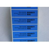 Wholesale Anti - Counterfeiting Non Residue Security Labels / Anti - Fake VOID Sticker from china suppliers