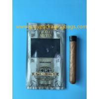 Wholesale Manufacturers custom-made sales gold printing cigar packaging moisturizing zipper bag from china suppliers