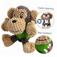 Wholesale Durable Monkey Shaped Plush Pet Toys , Squeaky Dog Toys For Aggressive Chewers from china suppliers