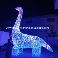 Wholesale giant led dinosaur outdoor christmas decorations from china suppliers