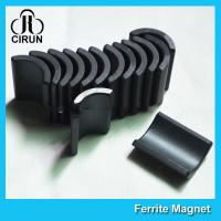 Y30 Grade Ferite Arc Magnets For Motors , Ferite Ceramic Motor Arc Magnets