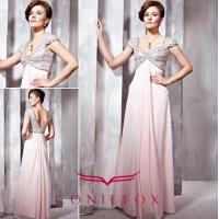 Wholesale royal rhinestone sexy backless evening dresses with cap sleeves from china suppliers