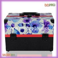 China New design beautiful printing pu makeup carrying case with shoulder strap (SACMC011) wholesale