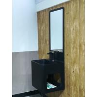 Wholesale Integrated Bathroom Sink Cabinets Black Matted Surface With Mirror from china suppliers