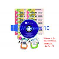 Wholesale 32/64 bit Windows 10 Product Key Sticker Win 10 Pro COA X20 Online Activate from china suppliers