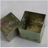 """Wholesale North American Knockout Box 4"""" Square Drawn Metal stamping processing , Wall Mounted Stamping Box Part from china suppliers"""
