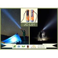 China Outdoor Solar Camping ABS High Power Led Flashlight Rechargeable With ROHS / CE on sale