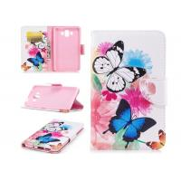 Wholesale Colorful Butterfly Card Pocket Phone Case , Cell Phone Wallet Case For Huawei from china suppliers