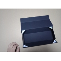 Wholesale Silver Foil Stamped Logo Luxury Magnetic Folding Flat Pack Gift Boxes Packaging Solution from china suppliers