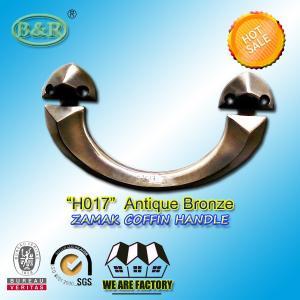 Wholesale Antique copper bronze zamak metal coffin handle H017 22.5*11.5  cm zinc casket hardware from china suppliers