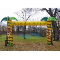 Wholesale 4X3m Customized Welcome Inflatable Arches Waterproof Finish Line Arch from china suppliers