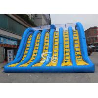 Wholesale Hit and Run 6 lanes giant inflatable adult slide for outdoor mud run adventure from china suppliers